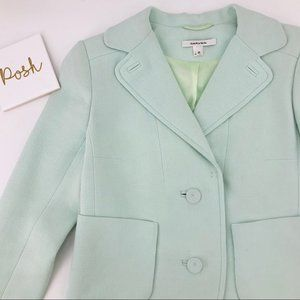 Carven Mint Blazer Sz 36 Front Pocket (Sz 4)